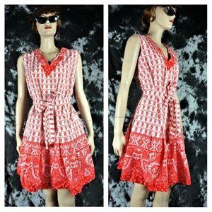 Vng 70s Deadstock Culotte Dress Sz 16
